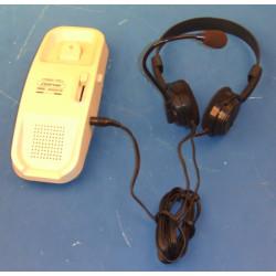Telephone main libre avec casque filaire amplificateur son