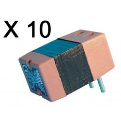 Lot de 10 convertisseurs tension 220v 110v 45w 50w changeur 220 110vca adaptateur electrique