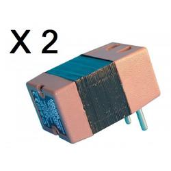 Lot de 2 convertisseurs tension 220v 110v 45w 50w changeur 220 110vca adaptateur electrique