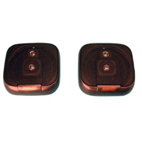 Loudspeaker 3 way flush mounting car sound loudspeaker, 100w, (sold in pair) flush mounting car loudspeakers 3 way car loudspeak