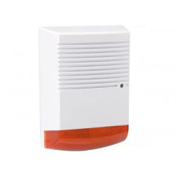 Künstliche Außensirene mit blinkende rote LED IP44 hamd1
