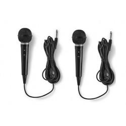 2 Dynamisches karaoke mikrofon schwarz