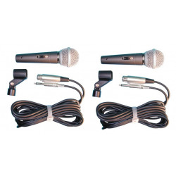2 Microphone 50 15khz wired dynamic mircrophone microphone 50 15khz wired dynamic mircrophones 50 15khz wired dynamic