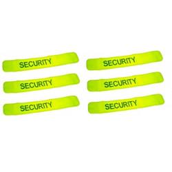 Pack 6 bracciale giallo fluo sicurezza velcro bracciale bracciale sicurezza bracciale sicurezza