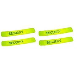 Pack 4 bracciale giallo fluo sicurezza velcro bracciale bracciale sicurezza bracciale sicurezza