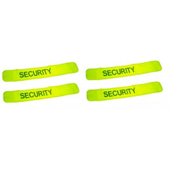 Pack 4 safety armband yellow 'security'