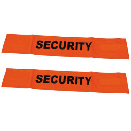 2 Brassard fluo security en471 velcro securite routiere haute visibilite protection bras