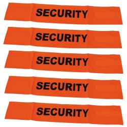 5 Brazalete anaranjado fluo security velcro seguridad vial alta visibilidad proteccion brazo