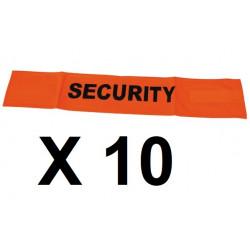 10 Fluorescente di sicurezza velcro bracciale sicurezza stradale ad alta visibilità arancione braccio protezione
