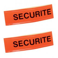 2 Armband securite orange fluorescent velcro security armband security
