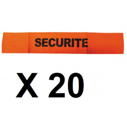 20 Armbinde fur sicherheit farbe orange und schwarz fluoreszierend klettverschluss armbinde sicherheit armbinde