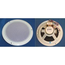 Haut parleur plafonnier encastre sono 6w ligne 100v blanc sonorisation pac625w