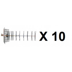 10 Aerial tv aerial uhf outdoor television aerial 43 elements, 21 69 channel antennas aerials outdoor television aerial antenn
