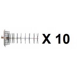 10 Antena television uhf exterior 43 elementos canales 21 69 antenas televisiones uhf exteriores 21 69