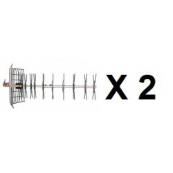 2 Uhf außenantenne antenne fernsehen 43 elemente 21 69 kanal außenantenne außenantennen uhf außenantennen
