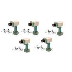 5 telecamera dissuasiva finta motorizzata + led lampeggiante + supporto