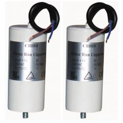 2 Wire capacitor 50 mf micro farad 400v cbb60 start universal motorjumper cable gate motorization w9 11250