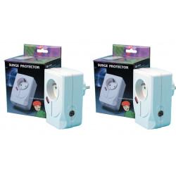 2 Blitzschutz einsteckbarer 220vac filter fernsehschutz schutz der gerate gegen gewitter blitzschutz blitzschutz