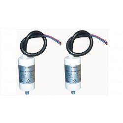 2 Condensador comienzo 3 micro farad 400v con hilos automatismo motorizacion automatismo