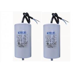 Condensador alambrico 45 mf micro farad 450v cable arranque motor motorizacion portico w9 11230