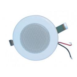 Haut parleur plafonnier encastre sono 6w 2.5 100v blanc montage faux plafond enceinte pac625w