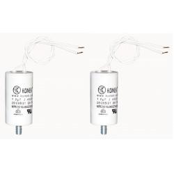 2 Condensador 1 micro farad 450v 50 60 hz condensador de arranque motor universal with wire