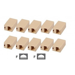 10 Electric extension cable adapter coupler 8p8c female female rj45 join rj45 rj45 electric extension cable electric extension c