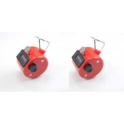 2 Red Handheld Tally Counter 4 Digit Display for Lap/Sport/Coach/School/Event