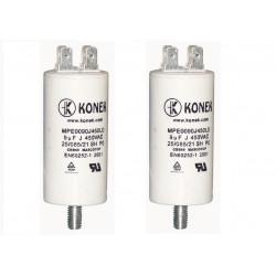 2 Condensador 9 mf micro farad 450v 50 60 hz condensador de arranque motor universal a borne am w1 11008