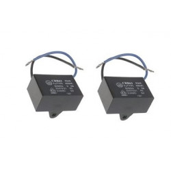 2 CBB61 Condensador Metalizado para Motor Arranque Ventilador de Techo 500VAC 4uF 4mf