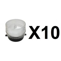 10 Xenon blitzlicht 12vdc weiß ø100x80mm blitzlicht fur alarmanlage