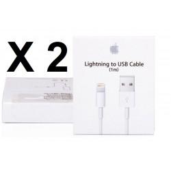 2 Carton boite emballage pour cordon usb iphone 5 5c 5s (Boîte seulement pas de câble usb)