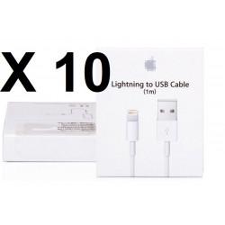 10 Carton boite emballage pour cordon usb iphone 5 5c 5s (Boîte seulement pas de câble usb)