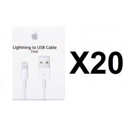 20 Carton boite emballage pour cordon usb iphone 5 5c 5s (Boîte seulement pas de câble usb)