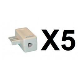 5 teléfono adsl filtro de enchufe de teléfono francia usa 8 pin adaptador
