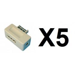 5 Clavija telefono macho americana 8 contactos adapatores telefono clavijas telefono macho americano
