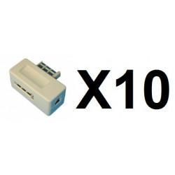 10 Clavija telefono macho americana 8 contactos adapatores telefono clavijas telefono macho americano