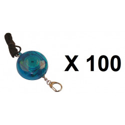 100 Alarma electrónica personal 105db + botón alarma a peatón(transeúnte) tl358 alarmado pedazos dispositivos contra el robo