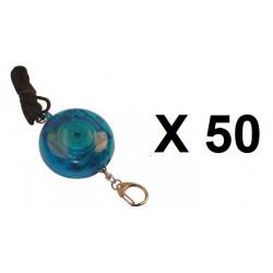 50 Alarma electrónica personal 105db + botón alarma a peatón(transeúnte) tl358 alarmado pedazos dispositivos contra el robo