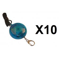 10 Alarma electrónica personal 105db + botón alarma a peatón(transeúnte) tl358 alarmado pedazos dispositivos contra el robo