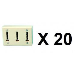 20 Clavija multiple telefono ylfr19 (permite la conexion de 3 conectores telefonicos a una clavija telefonica) clavijas