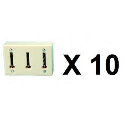10 Clavija multiple telefono ylfr19 (permite la conexion de 3 conectores telefonicos a una clavija telefonica) clavijas