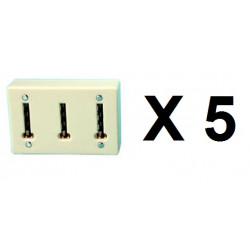5 Clavija multiple telefono ylfr19 (permite la conexion de 3 conectores telefonicos a una clavija telefonica) clavijas
