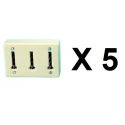 5 Telephone Splitter 3 way Sockets Telephone 3 way adapter mural  multistage extension phone