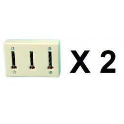 2 Clavija multiple telefono ylfr19 (permite la conexion de 3 conectores telefonicos a una clavija telefonica) clavijas