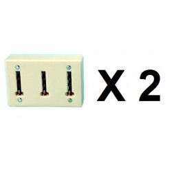 2 Telephone Splitter 3 way Sockets Telephone 3 way adapter mural  multistage extension phone