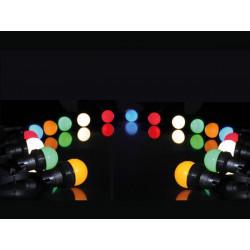 Wreath festival 11.5m 20 LED lamps 7 LED e27 ip44 multicolored xmpl10rgb