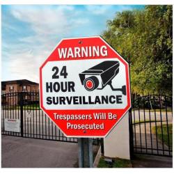Panneau en aluminium réfléchissant de signe de PlateTraffic de signe de caméra de surveillance vidéo de 24 heures