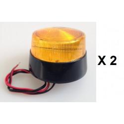 2 Xenon blitzlicht 12vdc bernsteingelb ø70x52mm blitzlicht fur elektronische alarmanlage