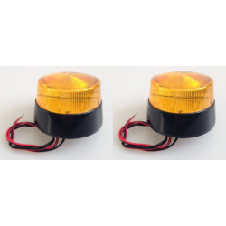 2 Flash 12vdc amber xenon flash, ø70x52mm strobe light strobe warning emergency lights strobe warning light systems fire police
